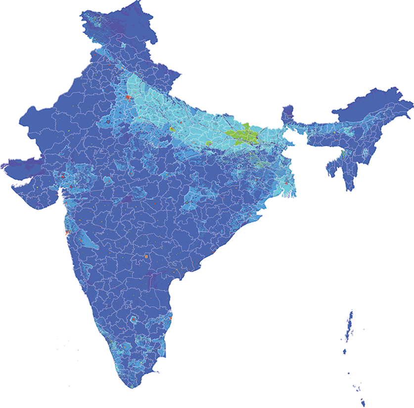 India - Number and distribution of pregnancies (2012)