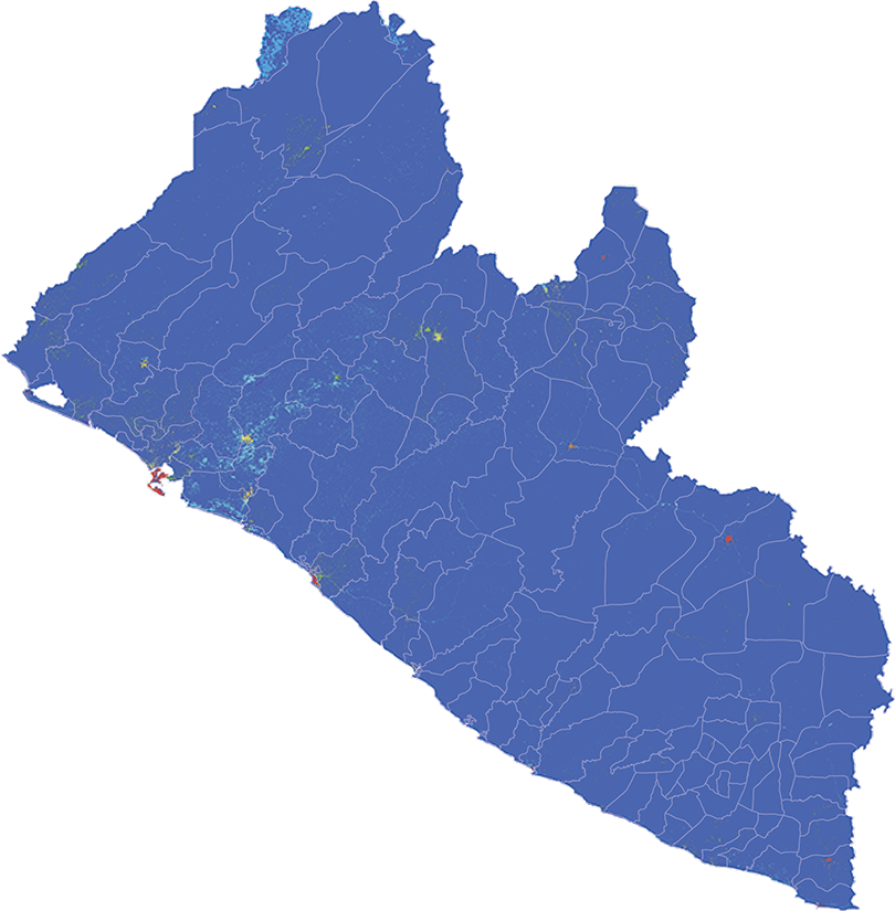 Liberia - Number and distribution of pregnancies (2012)