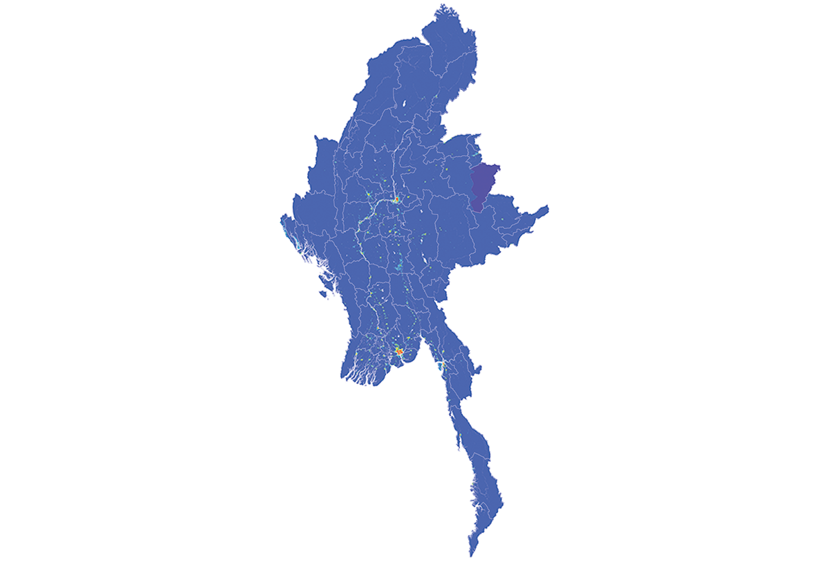 Myanmar - Number and distribution of pregnancies (2012)