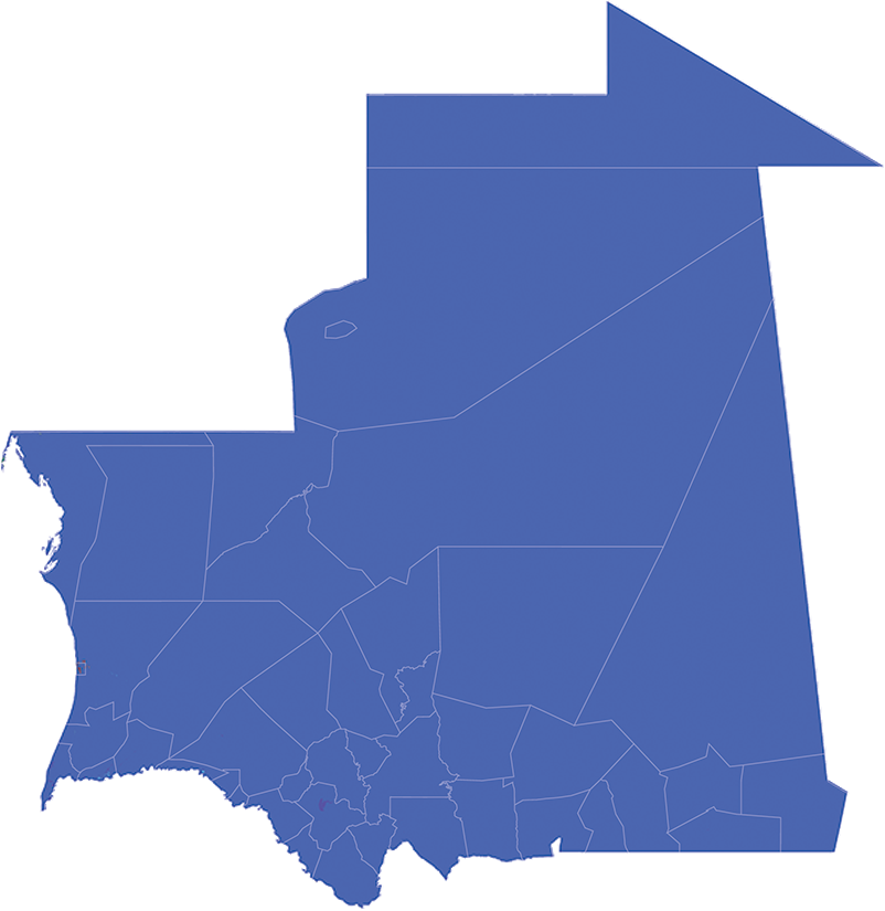 Mauritania - Number and distribution of pregnancies (2012)