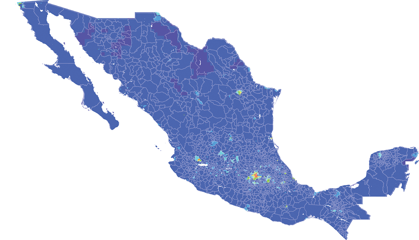Mexico - Number and distribution of pregnancies (2012)