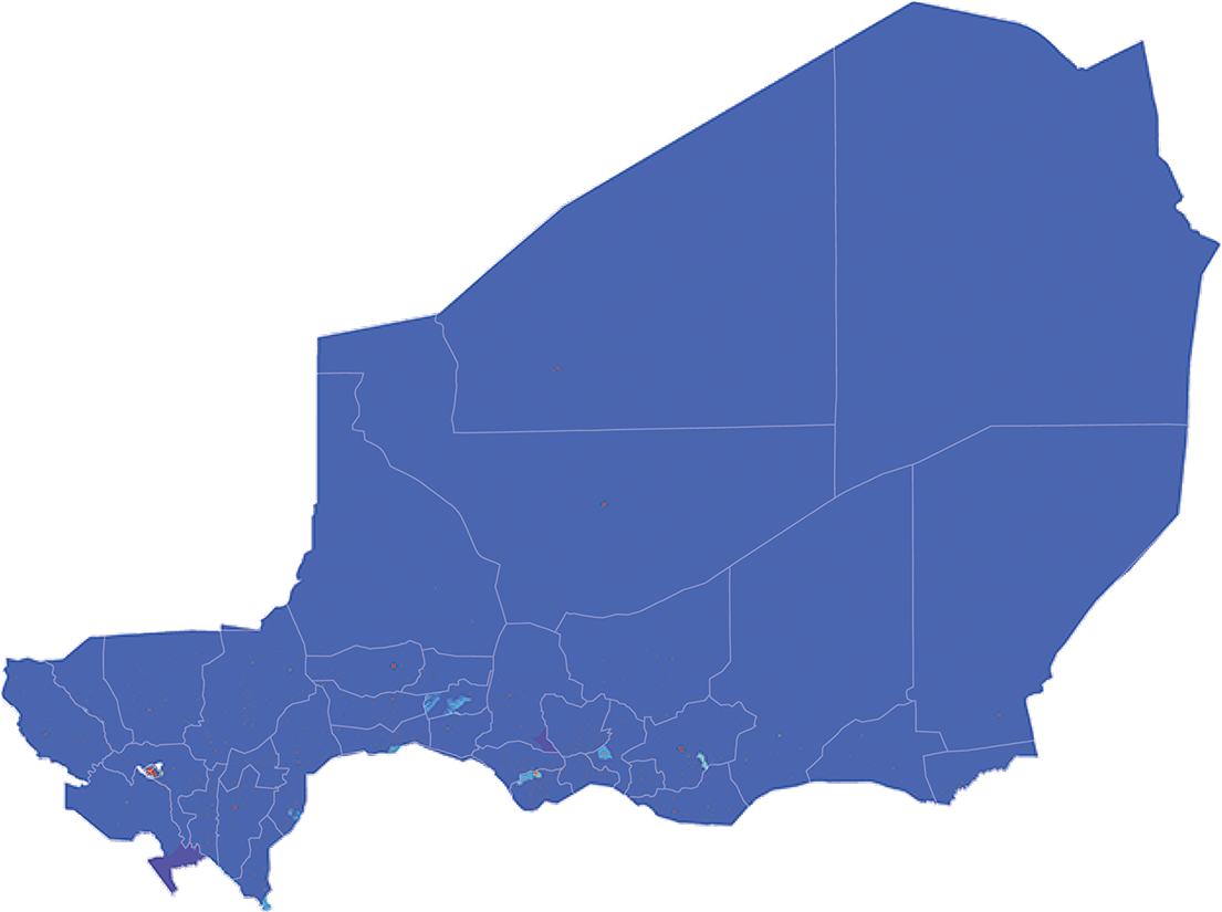 Niger - Number and distribution of pregnancies (2012)