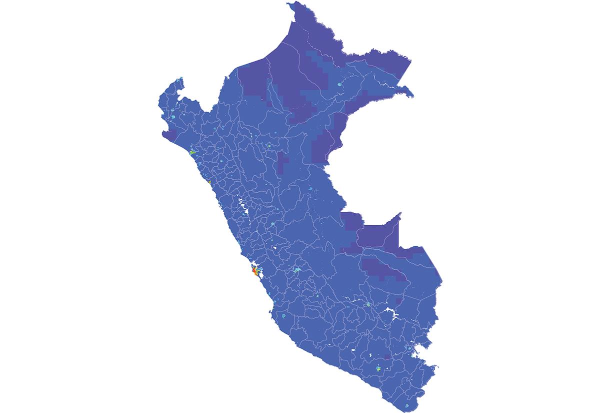 Peru - Number and distribution of pregnancies (2012)