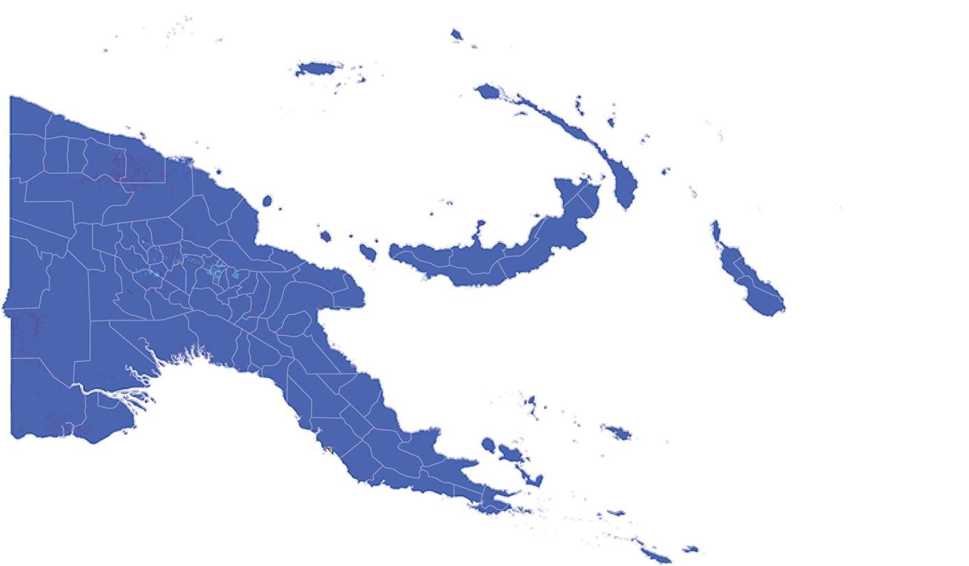 Papua New Guinea - Number and distribution of pregnancies (2012)