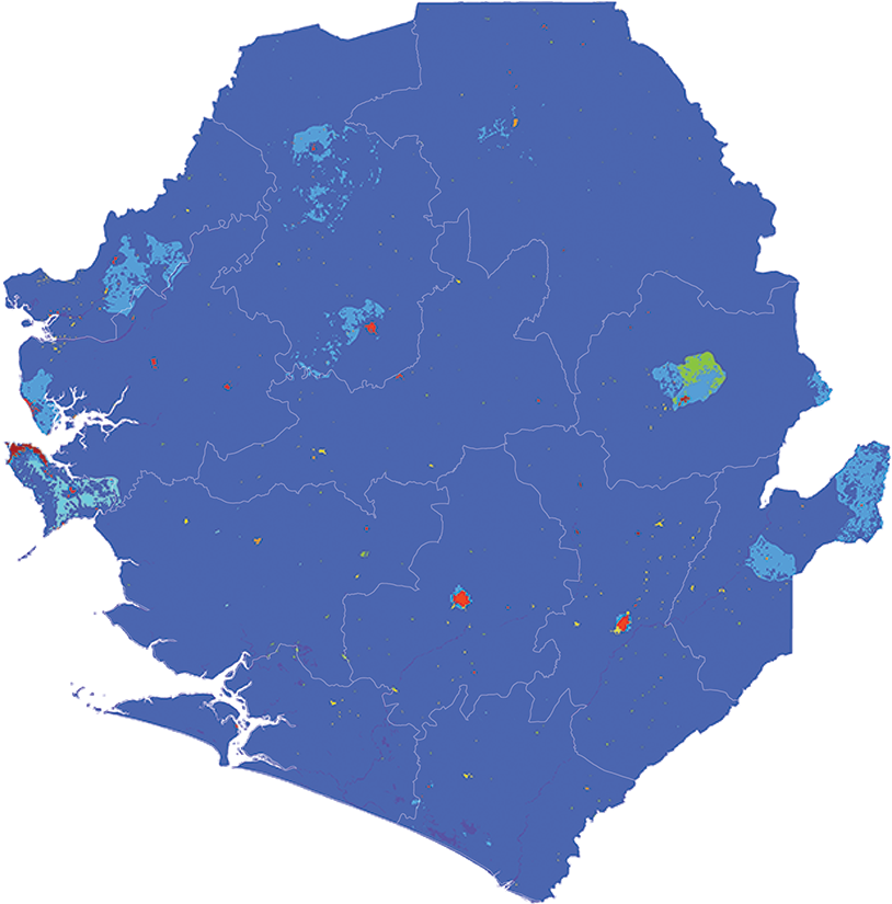 Sierra Leone - Number and distribution of pregnancies (2012)