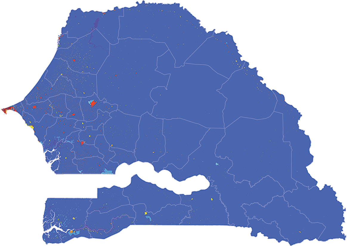 Senegal - Number and distribution of pregnancies (2012)