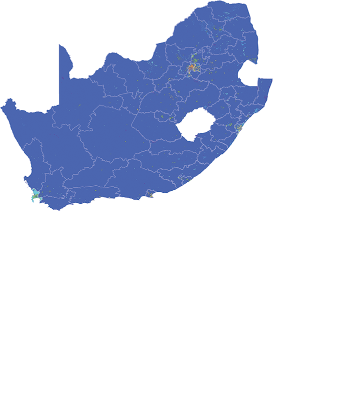 South Africa - Number and distribution of pregnancies (2012)