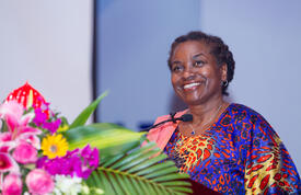 Dr. Natalia Kanem speaking at the 9th Asia Pacific Regional Conference on Reproductive and Sexual Health and Rights © UNFPA Viet Nam/ Vu Ngoc Dung
