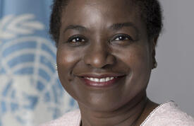 On 3 October 2017, United Nations Secretary-General António Guterres appointed Dr. Natalia Kanem Executive Director of UNFPA, the United Nations Population Fund.  © UN Photo/Mark Garten