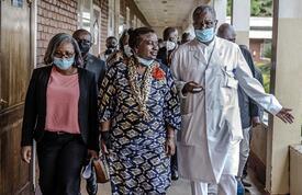 UNFPA Executive Director Dr. Natalia Kanem meets with Dr. Denis Mukwege